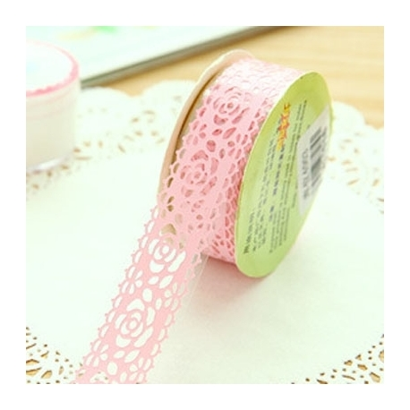 Self-adhesive Lace roll - Pink (14mm x 1m)