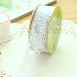 Self-adhesive Lace roll - White (14mm x 1m)