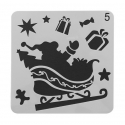 13 x 13cm Reusable Stencil - Sleigh & Ornaments (1pc)