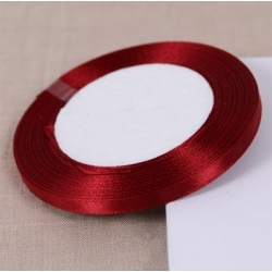 6mm Satin Ribbon - Dark Red (25 yards)