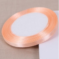 6mm Satin Ribbon - Peach (25 yards)
