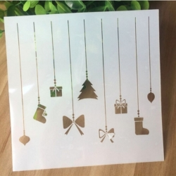Reusable Stencil - Christmas Ornaments (1pc)