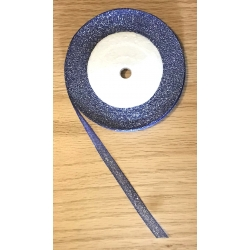 Metallic Ribbon - 7mm Royal Blue/Silver (22.86 metres)
