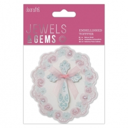 Embellished Topper - Floral Cross (PMA 359010)