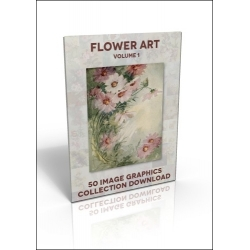 Download - 50 Image Graphics Collection - Flower Art Vol.1