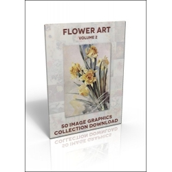 Download - 50 Image Graphics Collection - Flower Art Vol.2