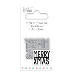 Simply Creative Mini Die - Merry Xmas (SCDIE051X18)