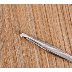9cm Tweezers, flat-nose