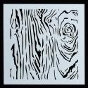 13 x 13cm Reusable Stencil - Bark (1pc)