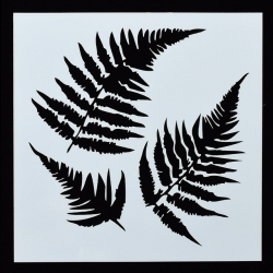 13 x 13cm Reusable Stencil - Ferns (1pc)
