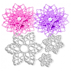 Printable Heaven dies - Lace Flowers (3pcs)
