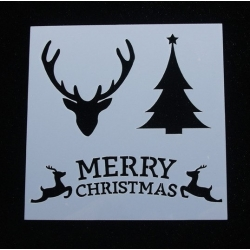 Reusable Stencil - Tree/Stag/Merry Christmas (1pc)