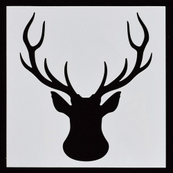 Reusable Stencil - Stag Head (1pc)