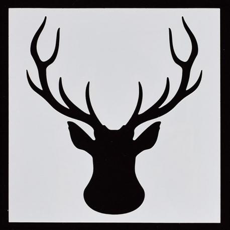 Reusable Stencil - Stag Head (1pc)