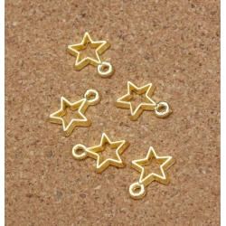 Metal Charms - Hollow Star gold (14)