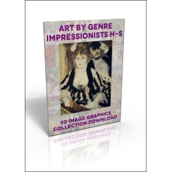 Download - 50 Image Graphics Collection - Art by Genre, Impressionists H-S