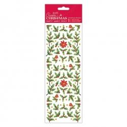 Christmas stickers - Robin & Holly (PMA 804932)