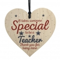 Wooden sign - Special Teacher (1pc)