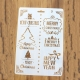 Large Plastic Stencil - Merry Christmas & Happy New Year (1pc)