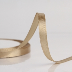 6mm Satin Ribbon - Tan (25 yards)