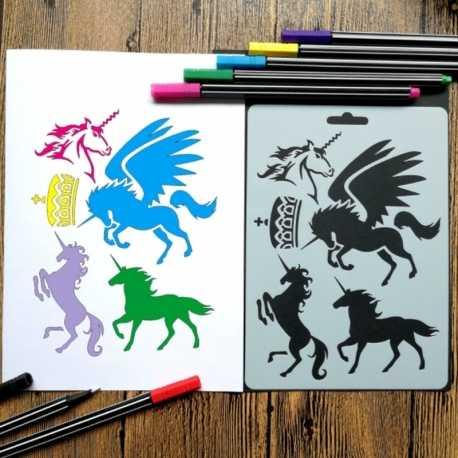 Reusable Stencil - Unicorns (1pc)