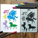 Medium Reusable Stencil - Unicorns (1pc)