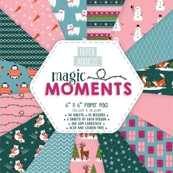 "Paper Addicts Magic Moments Christmas 6"" x 6"" Paper Pad (PAPAD023X18)"