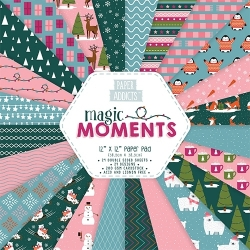 "Paper Addicts Magic Moments Christmas 12"" x 12"" Paper Pad (PAPAD022X18)"