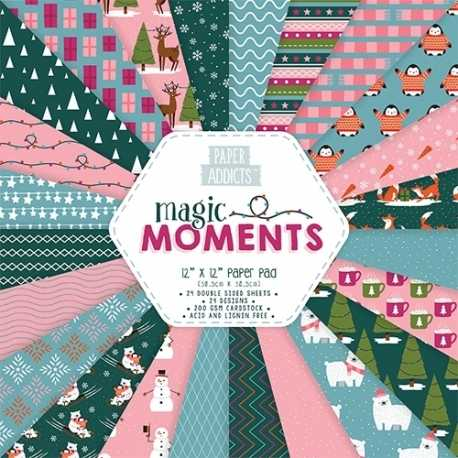 "Paper Addicts Magic Moments Christmas 12"" x 12"" Paper Pad (PAPAD022X18)"