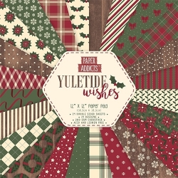 "Paper Addicts Yuletide Wishes Christmas 12"" x 12"" Paper Pad (PAPAD019X18)"