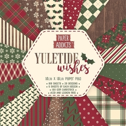 Paper Addicts Yuletide Wishes Christmas 10cm x 10cm Paper Pad (PAPAD021X18)