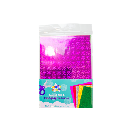 A4 Adhesive Craft Paper - Holographic (U-83457)