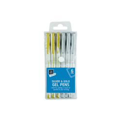 Gel Pens 6 pack - Silver & Gold (STA1464)