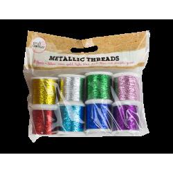 Metallic Crafting Threads - 8 Pack (U-83296)