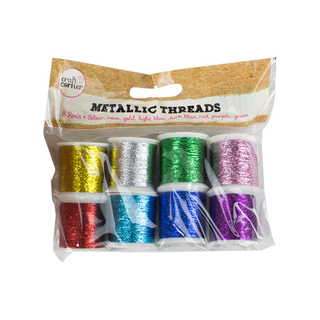 Metallic Crafting Threads - 8 Pack (U-83296)