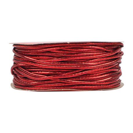 Christmas Elasticated Cord - Red (XMA1725)