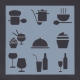 Reusable Stencil - Food & Drink (1pc)