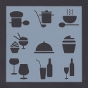 Reusable Stencil - Food & Drink (1pc)