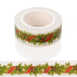 Christmas Craft Tape Roll (10m x 15mm)