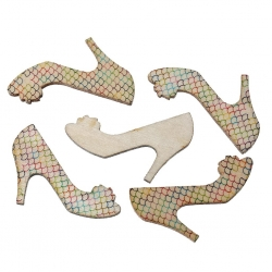 Wooden Shoes, Rainbow (4 pieces)