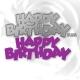 Printable Heaven die - Funky Happy Birthday (1pc)