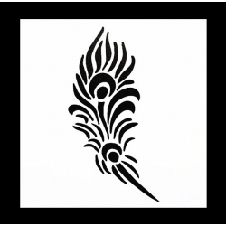 Reusable Stencil - Peacock Feather (1pc)