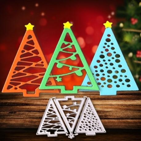 Modern Christmas Trees.Printable Heaven Die Modern Christmas Tree Trio 3pcs