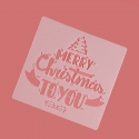 13 x 13cm Reusable Stencil - Merry Christmas to You (1pc)