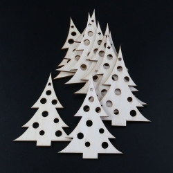 Wooden Dotty Christmas Trees (10pcs)