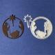 Printable Heaven dies - Small Nativity Circle with Star (2pcs)