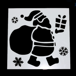 13 x 13cm Reusable Stencil - Large Santa (1pc)