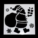 13 x 13cm Reusable Stencil - Large Santa (1pc)