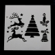 Reusable Stencil - Reindeer/Tree/Bell/Candle (1pc)