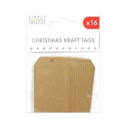 Simply Creative Christmas Kraft Tags (SCTOP018X18)